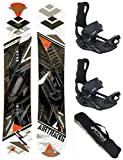 AIRTRACKS Snowboard Set - Tabla Line Wide 158 - Fijaciones Master M - SB Bag