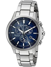 Citizen Eco-drive para hombres de titanio de cuarzo Casual reloj, color: silver-toned (modelo: at2340 – 56L)