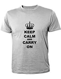 Mister Merchandise Homme Chemise Funny Tee T-Shirt Keep Calm and Carry on
