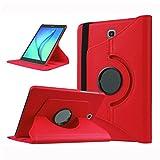 WindTeco Cover Samsung Galaxy Tab S3 9.7, Girevole Smart 360 Gradi di Rotazione Custodia Protettiva con Auto Sonno/Sveglia la Funzione per Samsung Galaxy Tab S3 9.7' Tablet (SM-T820 / T825), Rosso