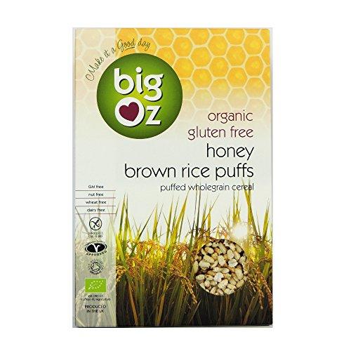 Big Oz - Organic & Gluten Free Honey Brown Rice Puffs - 250g
