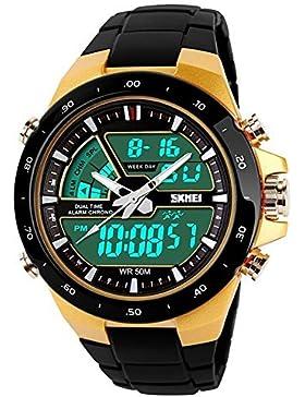 SKMEI Sports Uhr LED Analog-Digital Licht Alarm Chronograph Mulitfunktion Männers/Frauen Armbanduhr-Schwarz
