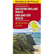 MARCO POLO Karte Großbritannien England Süd, Wales 1:300 000 (MARCO POLO Karten 1:300.000)