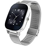 "ASUS WI502Q(BQC)-1MSIL0010 - Smartwatch de 1.45"" (Qualcomm Snapdragon, 512 MB RAM, 4 GB eMMC, Bluetooth, WiFi, Android Wear, acero inoxidable), plateado"