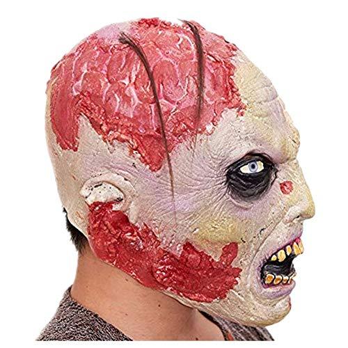 HYSMJ Masken Halloween Maske Maskerade Party Vollgesichts Latex Zombie Maske