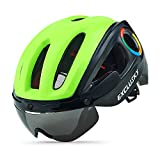 Exclusky Casco da Ciclismo per Sport e Tempo Libero 54-58cm (Verde/Nero)
