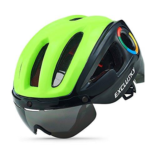 Exclusky Casco Ciclismo Ruta Adultos 54-58cm Verde/Negro