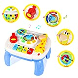 ACTRINIC Musical Learning Table Baby Toys 12-18 Months up-Early Education Music Activity Center Game Table Toddlers Toys for 1 2 3 Year Old-Different Lighting&Sound(New Gifts to Your Babies)