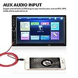 hongfei 7 Zoll 2Din HD Bluetooth Audio MP5 Player Kopfstützen-Monitor FM Transmitter Format Video Full HD mit Touchscreen mit HDMI und Fernbedienung