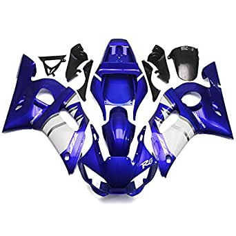 Sportfairings Full Injection ABS Plastic Motorcycle Fairings For Yamaha YZF600 R6 Year 1998 1999 2001 2002 Blue White