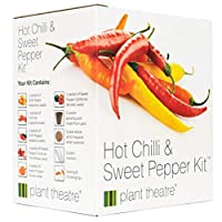 Hot Chilli & Sweet Pepper Kit by Plant Theatre - 6 Different Varieties to Grow