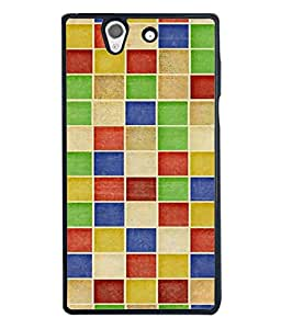 FUSON Designer Back Case Cover for Sony Xperia Z :: Sony Xperia ZC6603 :: Sony Xperia Z L36h C6602 :: Sony Xperia Z LTE, Sony Xperia Z HSPA+ (Seamless Pattern Blue Design Drawing )