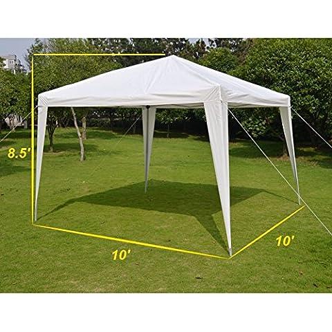EZ POP UP Wedding Party Tent 10'x10' Folding Gazebo Beach Canopy W/Carry Bag-WHITE by SNC