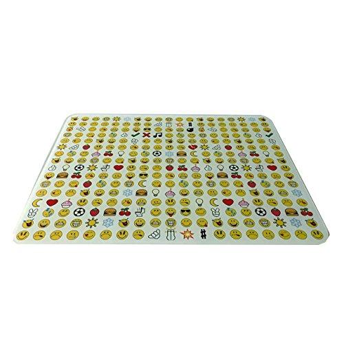Zak Designs 6727-027 Planche à découper Verre trempé, Blanc, 40 x 30 x 0,5 cm