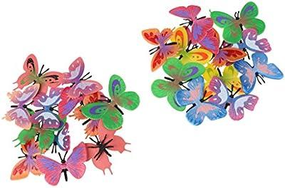 12pcs Plásticas Figuras Modelos Mariposas Pequeñas para Niños