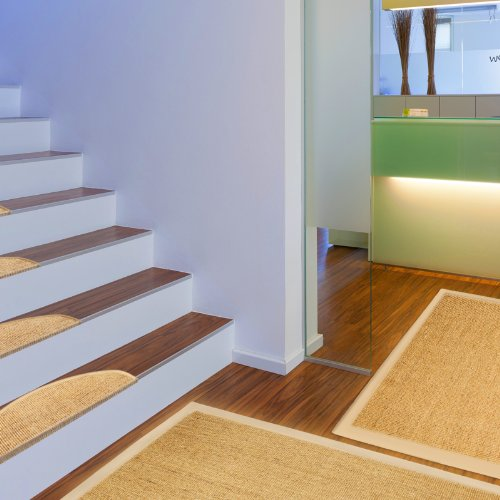 Floori® Sisal Premium Teppich, div. Größen wählbar, natur | auch als Set mit Stufenmatten