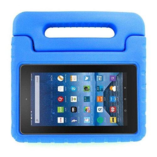 Preisvergleich Produktbild CAM-ULATA Hülle für Fire HD 8 2016, Superleicht Stoßfest Kinderfreundlich EVA Kinder Schutzhülle Tasche Case Cover für Amazon das neue Fire HD 8 Tablet (6. Generation - 2016 Modell), Blau