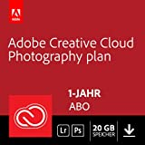 Adobe Creative Cloud Foto-Abo mit 20GB: Photoshop CC und Lightroom CC | 1 Jahreslizenz | PC/Mac Online Code & Download