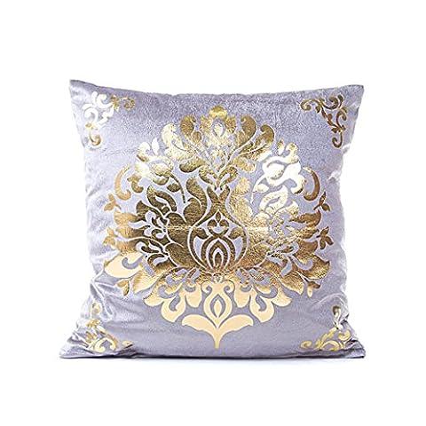 Xinan Pillow Case Sofa Taille Throw Kissen Cover Home Decor (Grau)