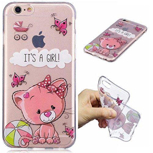 iPhone 6 Plus/6S Plus Hülle, Voguecase Silikon Schutzhülle / Case / Cover / Hülle / TPU Gel Skin für Apple iPhone 6 Plus/6S Plus 5.5(Seehund) + Gratis Universal Eingabestift It's A Girl