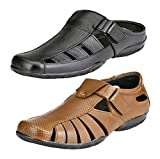 #5: Leather Zone Limited Edition Pure Leather sandals ( Combo of 2 at Rs 999 )