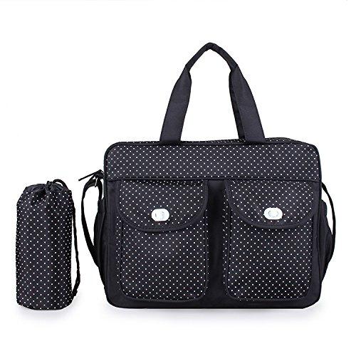 Baby Windel Tasche Wickeltasche - LOSORN ZPY Multifunktionale Pflegetasche Handtasche Pflegetasche Schwarz 2