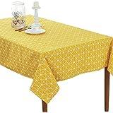 Hosaire Mantel Rectangular Cubierta Mesa de café de tela Manteles Tela del mantel té 140*180CM Gris Color Algodón (Patrón de Puntos Amarillo)