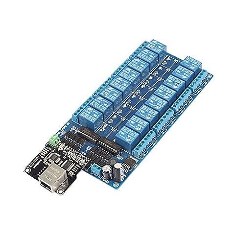 SainSmart Ethernet LAN WAN WEB Contrôle Module TCP/IP 10A R45