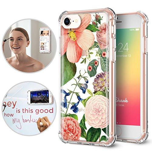 iPhone 6/6S/7/8Fall, titishark Premium Anti Gravity Schutzhülle [Freisprecheinrichtung Fall], Innen Bedruckt Clear Case für Apple iPhone 6/6S/7/8, Victoria Garden