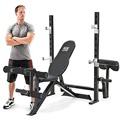 Marcy Unisex Pro Weight Bench Squat Rack, Black, Olympic by Marcy
