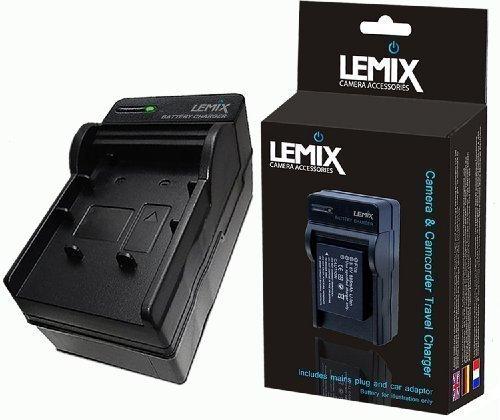 Lemix (NB13L) Caricabatterie da viaggio NB-13L per fotocamere CANON POWERSHOT (elencate qui sotto) +