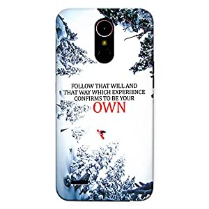 CrazyInk Premium 3D Back Cover for LG K10 2017 - Confirm to be your Own