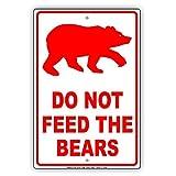 Eugene49Mor nicht Feed The Bears Wildlife Schutz Vorsicht Alert Achtung Hinweis Aluminium Metall blechschild 20,3x 30,5cm Teller