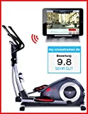 Sportstech CX620 Profi Crosstrainer mit Smartphone App Steuerung + Google Street View, Schwungmasse 21 KG, HRC - Bluetooth - 32 Widerstand Stufen - Heimtrainer Ergometer Ellipsentrainer Stepper