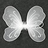 Timestar Fairy Butterfly Wings Costume For Birthday Party Gift (White)