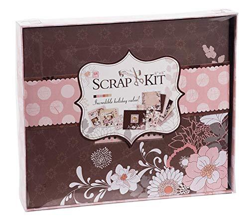Scrapbook-Kit - Fotoalbum mit Fotoöffnung, Scrapbooking-Zubehör, ideal für DIY-Fotoalbum, Hochzeits-Gästebuch, Valentinstagsgeschenk, Kunst-Handwerk, Dusty Pink, 26 x 24 x 3 cm -