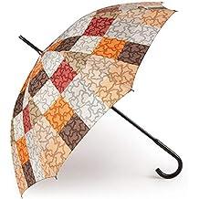 Paraguas Grande Kaos Cuadrados en Color Naranja-marrón 595990005