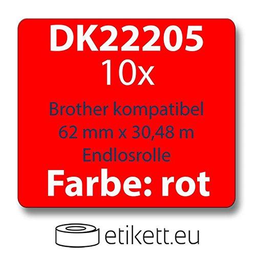 2x Label kompat zu Dymo 99012 36 x 89 mm 260 Label Etiketten pro Rolle rot