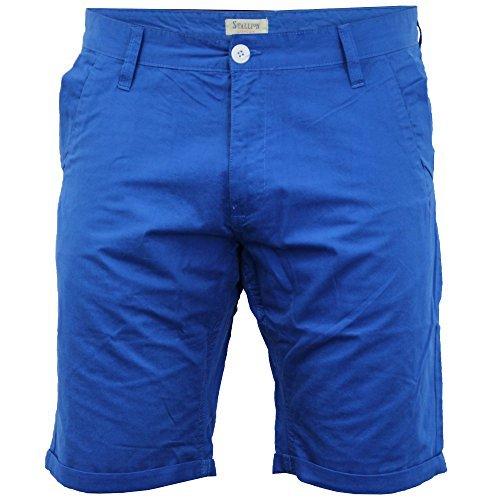 Herren Chino Shorts Threadbare Hose Baumwolle Knielange Aufrollen Freizeit Sommer Neu Königsblau - alpha221
