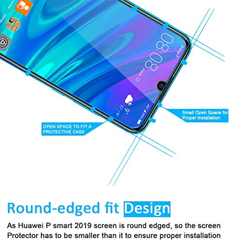 NEW'C Lot de 3 Verre Trempé pour Huawei P Smart 2019 / Honor 10 Lite, Film Protection écran - Anti Rayures - sans Bulles d'air -Ultra Résistant (0,33mm HD Ultra Transparent) Dureté 9H Glass