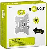 Goobay EasyFlex M - Soporte TV para 17'-42', color plata