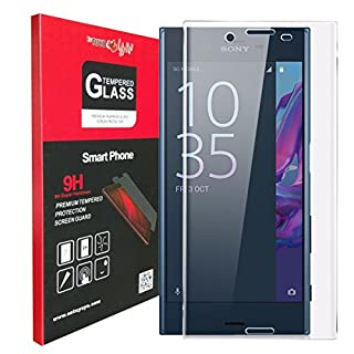 Sony Xperia XZ Premium Screen Protector, Estuyoya 3D Tempered Glass [Full Coverage] Ultra Resistant [9H Hardness] XZ Premium [Curved Edges] Shockproof – Transparent