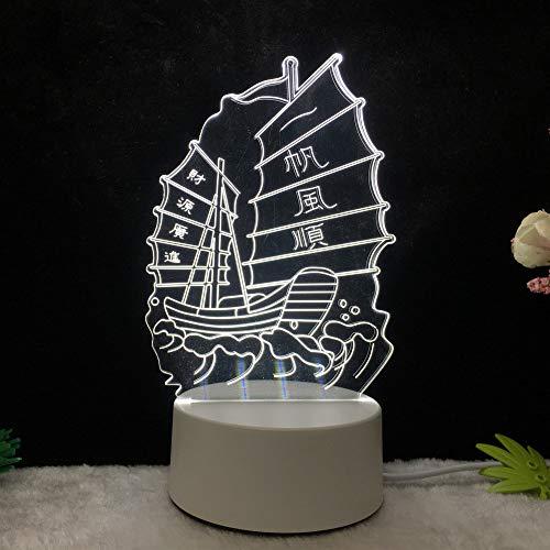 Luz Noche 3D lámpara Mesa estéreo led elk Tower
