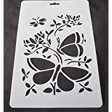 KABEER ART A4 Size Translucent plastic stencil set of 4 pc For Art and Craft Purpose
