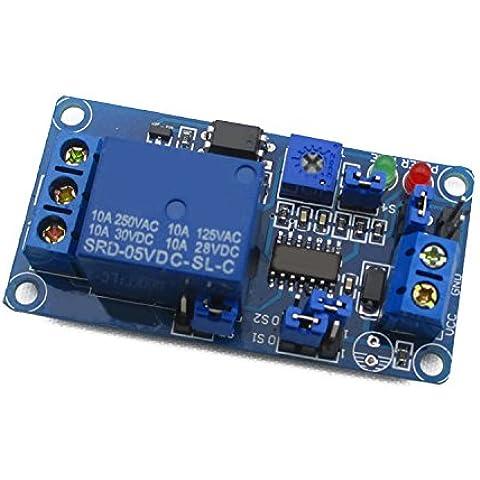 KAISIL 5-V di livello alto e basso ritardo attivato Interruttore relè temporizzati di ritardo del circuito di ritardo modulo