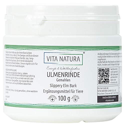 Vita Natura Amerikanische Ulmenrinde, Slippery Elm Bark, 1er Pack (1 x 100 g) -