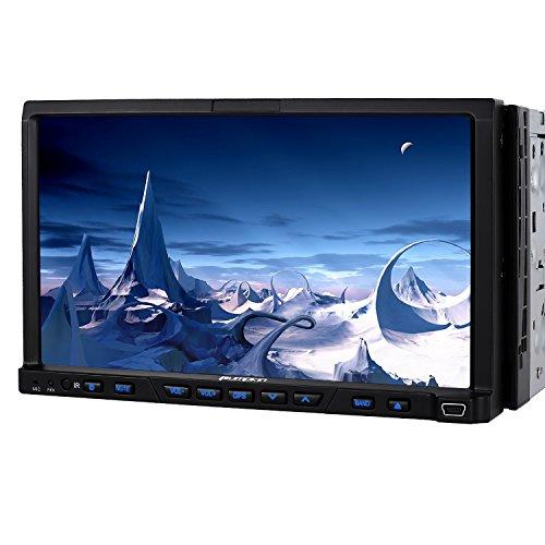 PUMPKIN 2 Din Autoradio DVD Player Moniceiver 7 Zoll Android 5.1 mit GPS Navigation 1024* 600 einstellbaren Winkel Touchscrenn unterstützt DAB+ Bluetooth Lenkradfernbedienung Wifi 3G