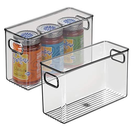 MDesign Juego 2 fiambreras guardar alimentos frigorífico