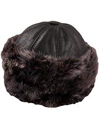 Dazoriginal Ushanka Mujer Piel Gorro Ruso Invierno Boina Cuero Sombrero  Punto 462f70f020a