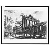 Historic Print (L): Altra veduta degli avanzi dell Pronao del Templo della Concordia / Cavalier Piranesi F. by Library Images